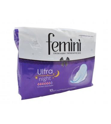 "Ночные прокладки ""Femini"" 10шт"