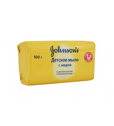 """Детское мыло с мёдом """"Johnson's"""" 100гр"""