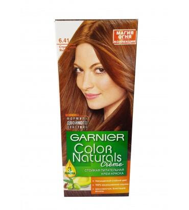 """Крем-краска для волос """"Garnier Color Naturals creme"""" 6.41 страстный янтарь 110мл"""