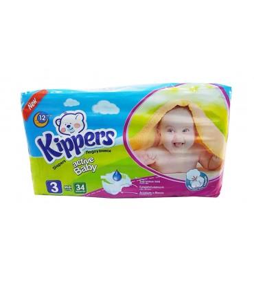 Kippers 3 подгузники 34шт...