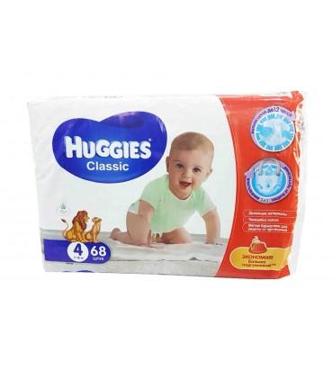 Huggies 4 подгузники 68шт...