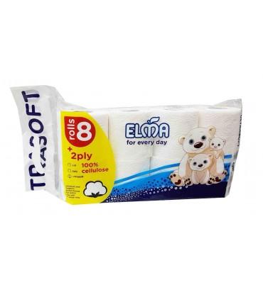 """Туалетная бумага """"Elma"""" 8шт"""