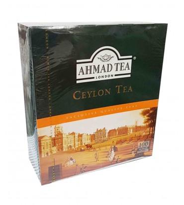 "Чай черный ""Ahmad Tea"" цейлонский в пакетиках 100х2гр"