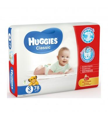 Huggies 3 подгузники 78шт (поштучно)