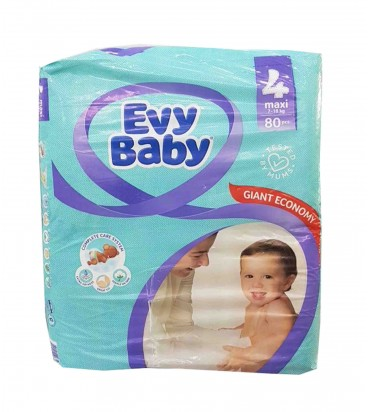 Evy Baby 4 подгузники 80шт поштучно