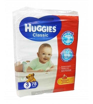 Huggies 3 подгузники 78шт