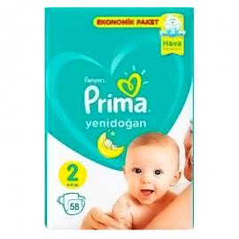 Детские подгузники Prima 2, упаковка 58шт