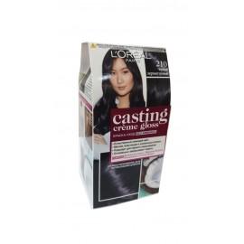 Стойкая краска-уход для волос L'Oreal Paris Casting Creme Gloss, без аммиака, оттенок 210, Черный Перламутровый