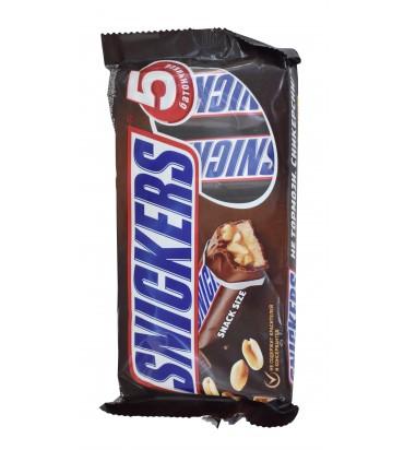 "Шоколадный батончик ""Snickers"" 5 штук, 200гр"